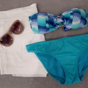 Vix Print Strapless Bikini Top